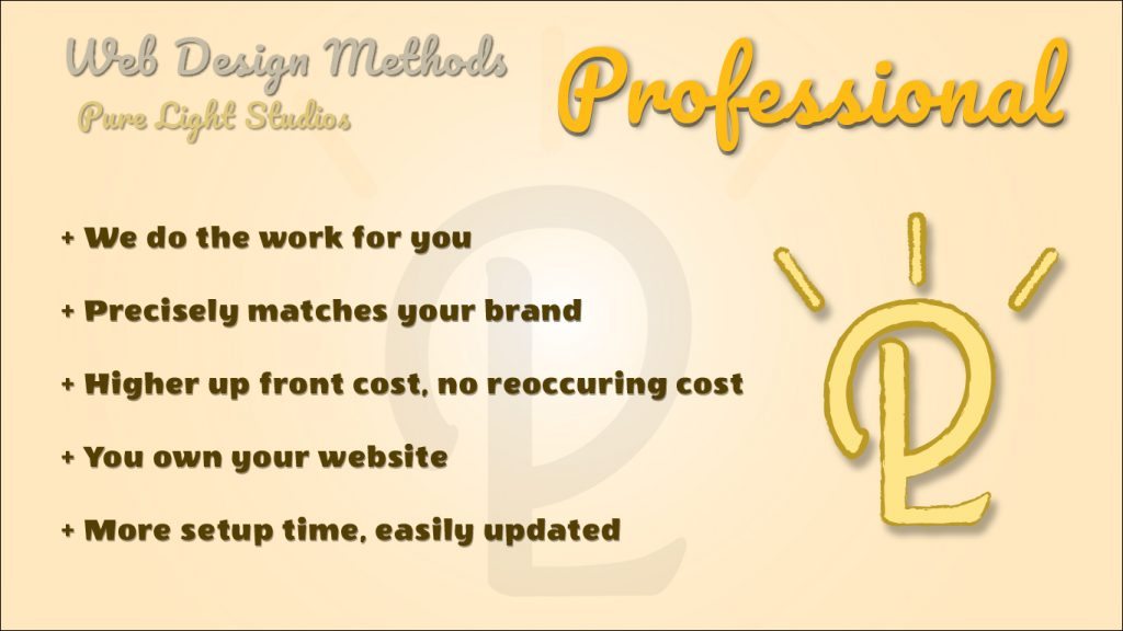 An infographic explaining why hiring a professional web designer is better than DIY web design